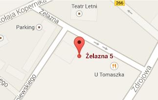 Mapa przedstawiająca lokalizację biblioteki